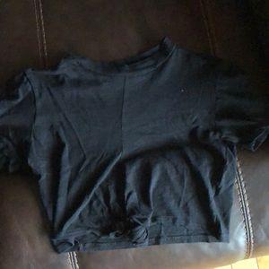 Never worn black tied crop top